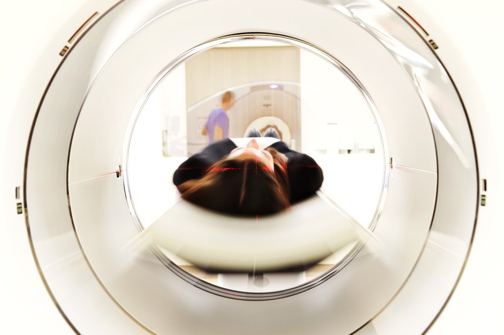 Woman Getting a Brain Scan