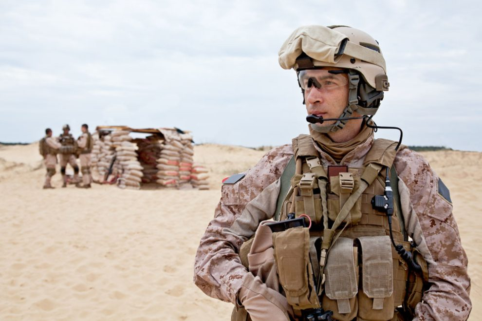 Marine At Outpost - Combat Arms Earplugs Lawsuit