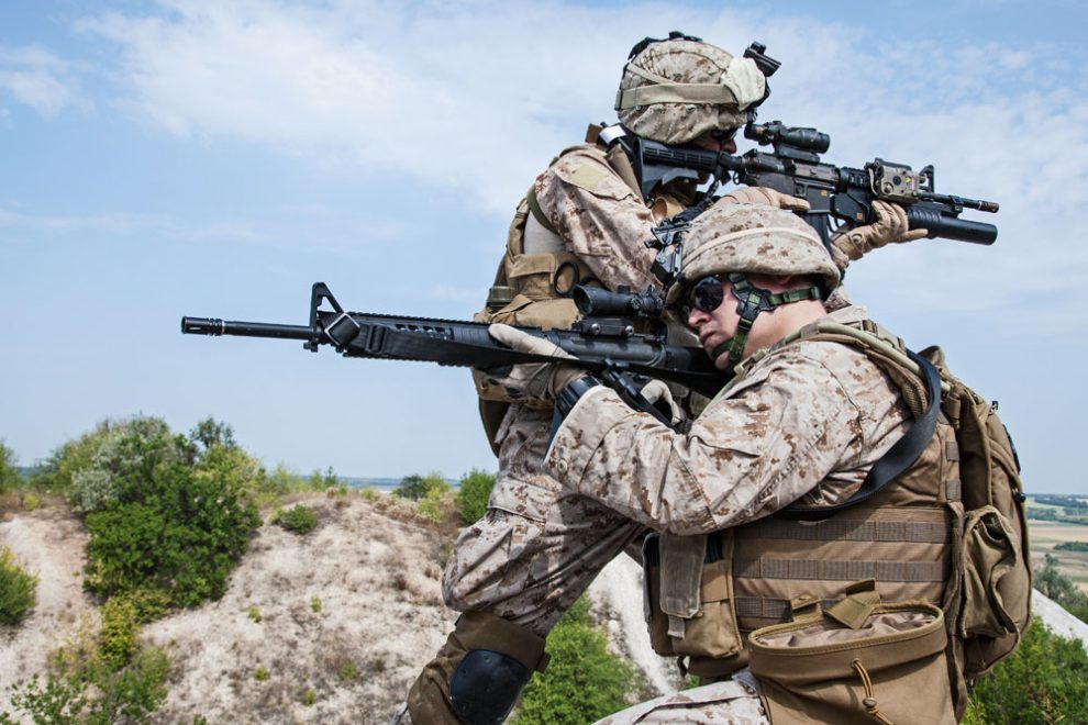 Marines Aiming Rifles - Military Earplugs Lawsuit