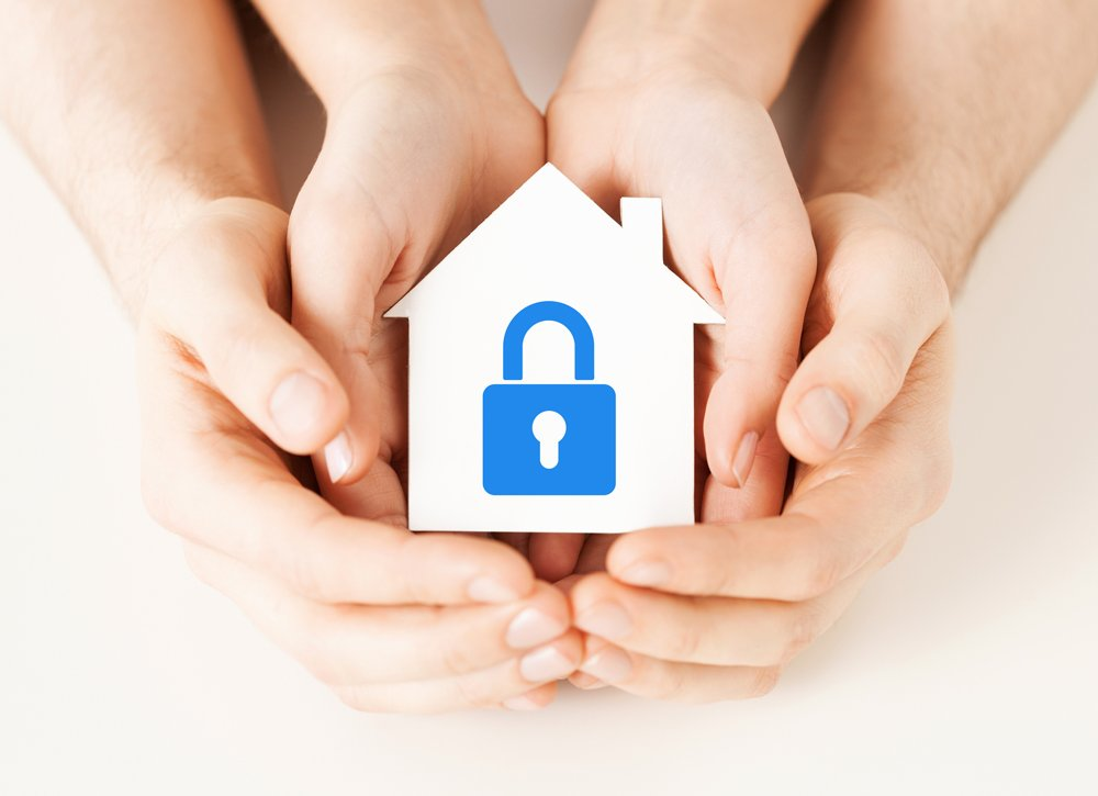 secure home in hands