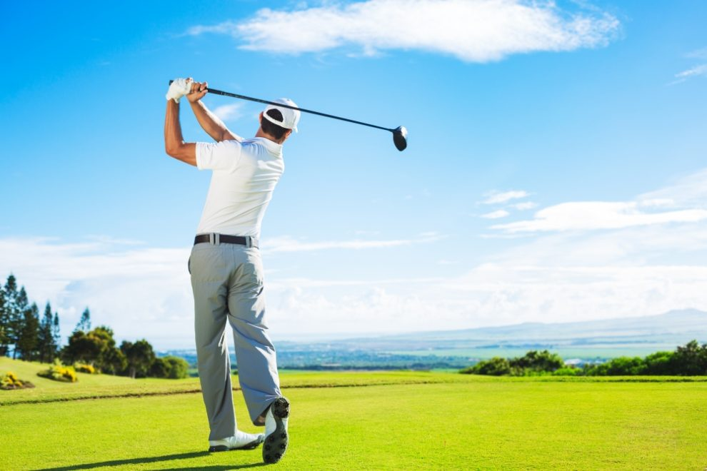Golfer Swinging - How to Get Rid of the Yips in Golfing