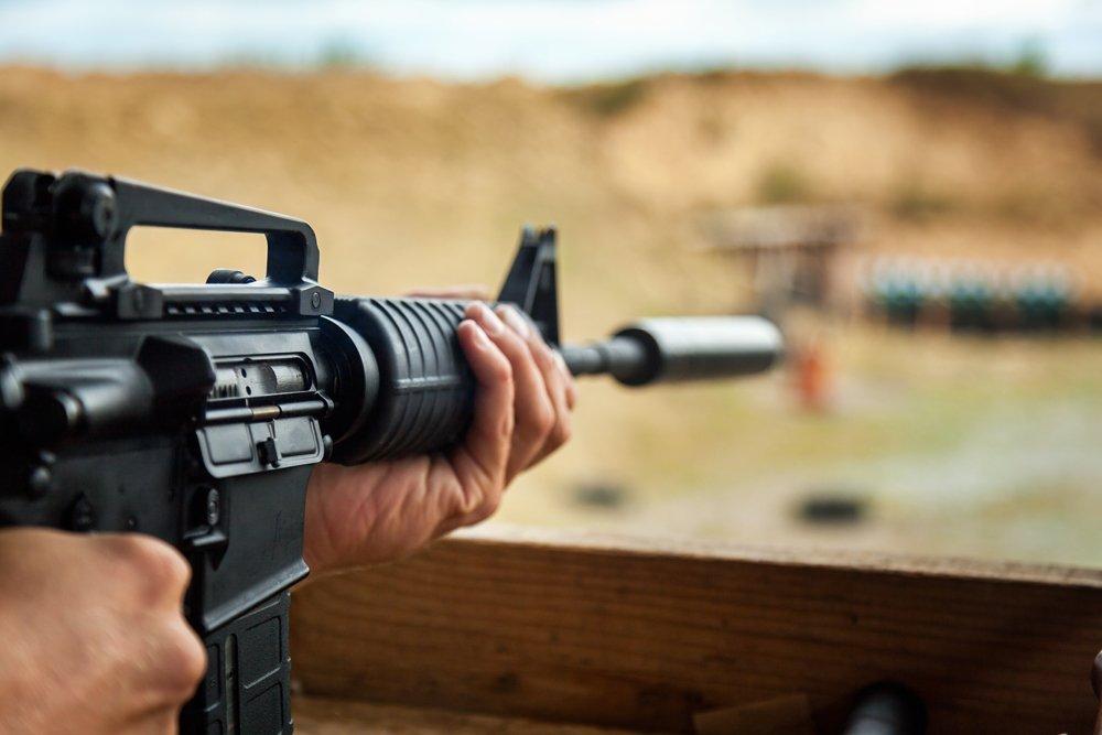 AR-15 at Shooting Range