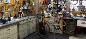 bicycle service with tools