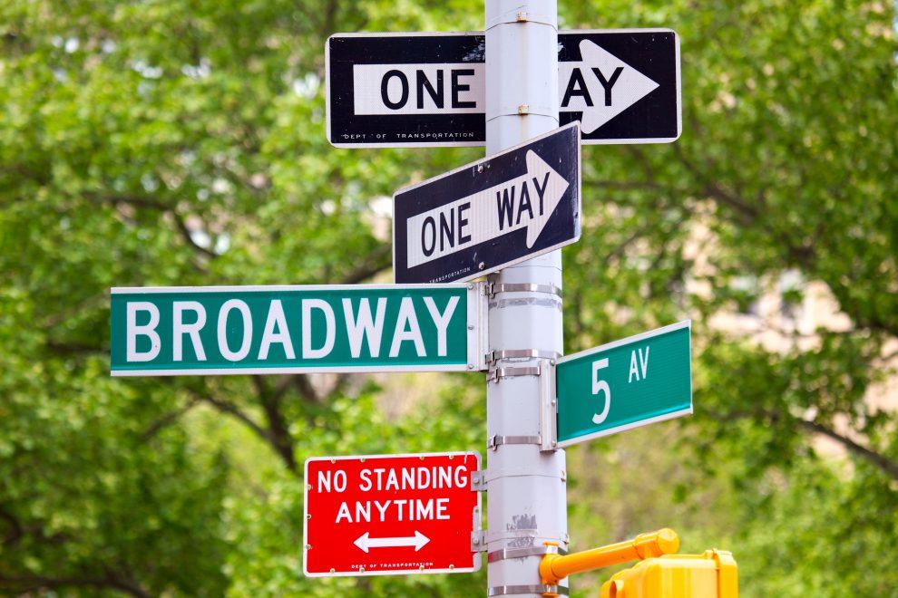 Road Signs In Stockton California
